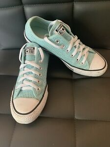 Turquoise Blue Converse Size UK 6.  A1