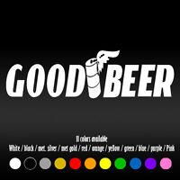 "8"" Good Beer Funny JDM Tires Truck Car Window Diecut Vinyl Decal sticker"