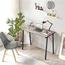 More details for small computer desk home office writing desk for study/library/bedroom, gray