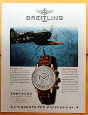 1998 Magazine Print Ad for Breitling 1884  Navitimer Watch