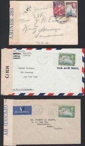 BERMUDA, 1942-45. Censored Covers KGVI (6), Hamilton - U.S.