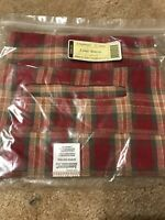 Large Serving Basket Liner from Longaberger Orchard Park Plaid Fabric