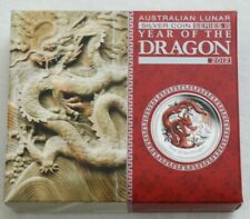 2012 One Ounce Silver $1 - Red Lunar Year of the Dragon