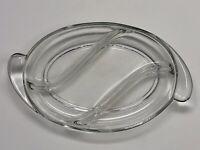 Vintage Duncan Miller Depression/Elegant Glass Clear Oval Relish Dish 3 Parts