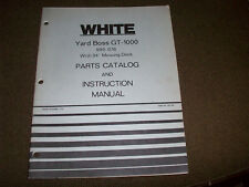 """White GT-1000 Yard Boss Lawn Tractor & 34"""" Mower Deck Operator's Manual & PC"""
