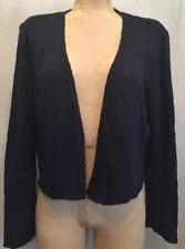 EILEEN FISHER Cotton Knit Open Front Cardigan Navy Blue XL