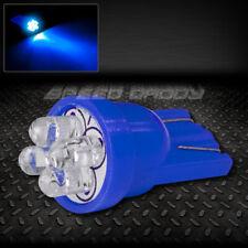 T10 194 168 W5W BLUE AUTO INTERIOR DOME WEDGE LIGHT BULB/BULBS w/ 4 X 3MM LED