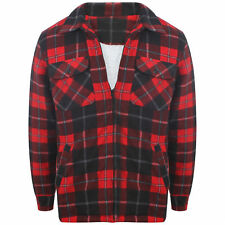 MENS THICK PADDED QUILTED CHECK LUMBERJACK SHIRT WARM WINTER WORK SHIRT SIZE