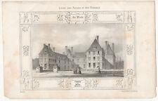 Le Château de Rosny. Lithographie par Louis Jules Arnout