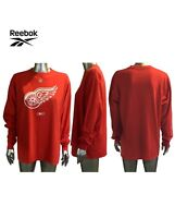 Detroit Red Wings NHL Reebok Center Ice Long Sleeve Red Shirt Logo Men's Large M