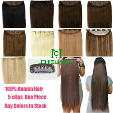 Long Hair 100g 120g 140g Full Head One Piece Clip In Remy Human Hair Extensions