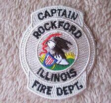 "Rockford Illinois Fire Dept.Captain Patch - 2 3/8"" x 3"""