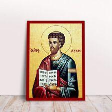 Saint Luke Greek byzantine orthodox icon handmade
