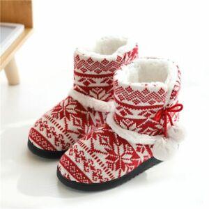 Warm Winter Slippers Women Cotton Christmas Gift Home Indoor Floor Weave Shoes