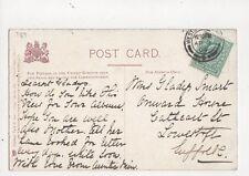 Miss Gladys Smart Onward House Cathcart Street Lowestoft 1904 335a