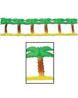 LUAU HAWAIIAN BEACH PARTY PALM TREE TISSUE PAPER GARLAND HANGING DECORATION