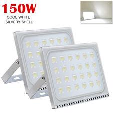 2X 150W LED Flood Light Cool White Outdoor Garden Lamp Lighting  Floodlight 110V