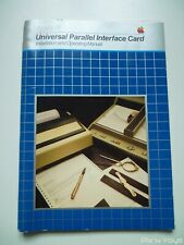 Apple III Universal Parallel Interface Card Installation and Operating Manual