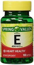 Spring Valley - Heart Health Vitamin E 400 IU per softgel, 100 Softgels