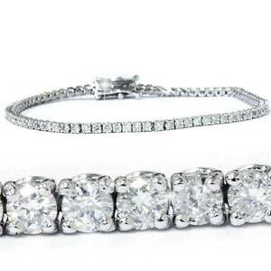 3 ct Diamond Tennis Bracelet 14 kt White Gold 7""
