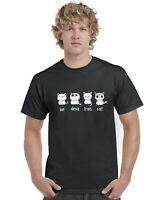 Un Deux Trois Cat Adults T-Shirt Tee Top Kittens Cats Sizes S-XXL