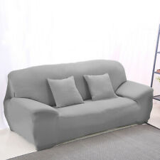 Spandex Texture Couch Stretch Sofa Seat Case Lounge Cover Slipcover Grey