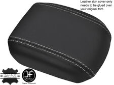 GREY STITCHING REAL LEATHER ARMREST COVER FITS HOLDEN CRUZE JG JH 2011-2016