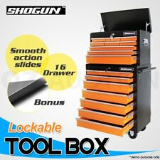 16 Drawer Mechanic Tool Box Chest Cabinet Toolbox Roller Cabinet - Orange