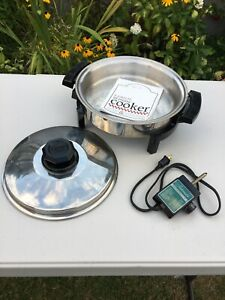 Original KITCHEN CRAFT Liquid Core Electric Skillet w Lid ~  Fryer & Instruction