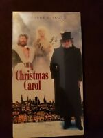 A Christmas Carol (VHS, CLAMSHELL)  New SEALED!    George C. Scott
