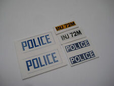 Dinky 270 - Ford Escort Police Car Stickers  B2G1F