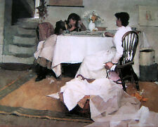 "Oil painting J. W. Waterhouse - Female portrait women playing Domino canvas 36"""