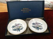 Royal Worcester Bone China Dahlia plates in original box