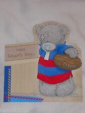I padri Giorno CARD aperto Carino Tatty Teddy Blu naso Bear FATHER'S DAY CARD