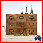 French Provincial Timber Pigeon Hole Mounted Chest of 9 Drawers Wooden Storage