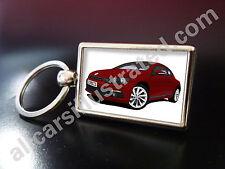 VW scirocco porte-clés en métal. choisissez votre voiture de couleur