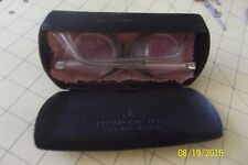 Vintage Safety glasses w/ Side Shields Tan Transparent plastic GOGGLES w AO case