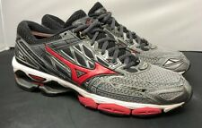 Mizuno Running Wave Creation 19 Charcoal True Red Black Mens Size 9 Fast Ship