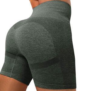 Women Seamless Shorts Booty Butt Lifting Scrunch Yoga Shorts Tik Tok Fitness Gym