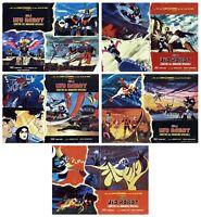 GLI UFO ROBOT CONTRO GLI INVASORI SPAZIALI LOTTO FOTOBUSTE 5 PZ. 1977 LOBBY CARD