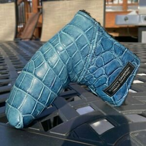 Scotty Cameron Gallery Tour Handcrafted Blue Alligator Leather Headcover - -NEW