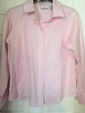 Women's LIZ CLAIBORNE  Pink Non Iron Long Sleeve Button Front Shirt Sz 12