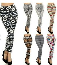 Women's Floral Patterned Lightweight Leggings One Size Fits All