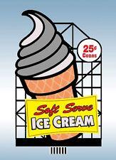 Soft Serve Ice Cream  #88-3001  Miller's Animated Neon Sign