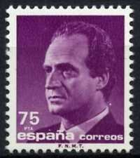 España 1985-92 SG#2830, 75p el rey Juan Carlos I estampillada sin montar o nunca montada definitiva #D64403