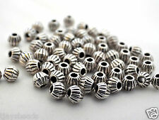 100 x Small Round Spacer Metal Beads Silver Colour
