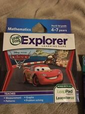 NEW LEAP FROG LEAPSTER LEAP PAD EXPLORER GAME DISNEY PIXAR CARS 2 -AGES 4-7 YRS