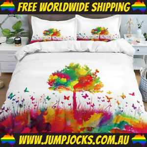 Tree Of Life Bedspread Set - Duvet Cover, Rainbow *FREE WORLDWIDE SHIPPING*