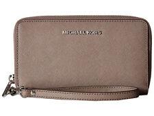 MICHAEL Michael Kors Jet Set Large Flat Travel Phone Case Wristlet Wallet Cinder