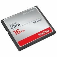 Sandisk Ultra 16 Gb Compactflash [cf] Card - 50 Mbps Read - 1 Card